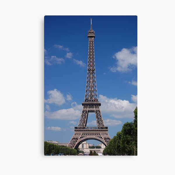 Eiffel Tower in Paris on a Banana Fish day Canvas Print