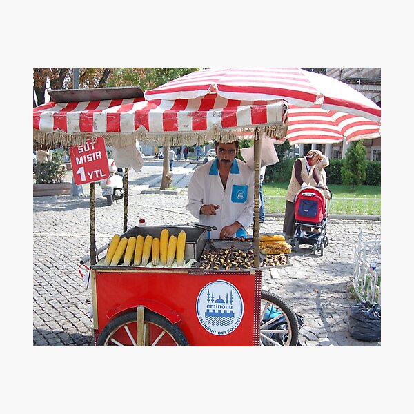 Vendor outside the Hagia Sophia and Blue Mosque  Photographic Print