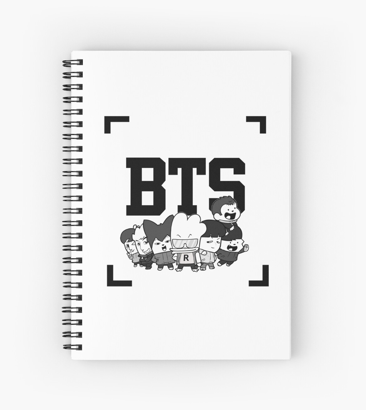 Quot Bts Hip Hop Monsters Quot Spiral Notebooks By Lisa98 Redbubble