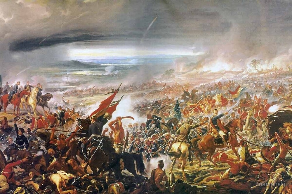 Battle of Tuyutí. #war, #crowd, #weapon, #army, #battle, illustration, painting, people, art, flame by znamenski