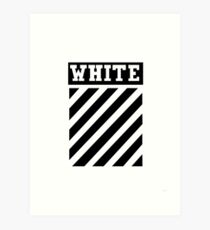White by Off-White Art Print