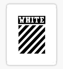 White by Off-White Sticker