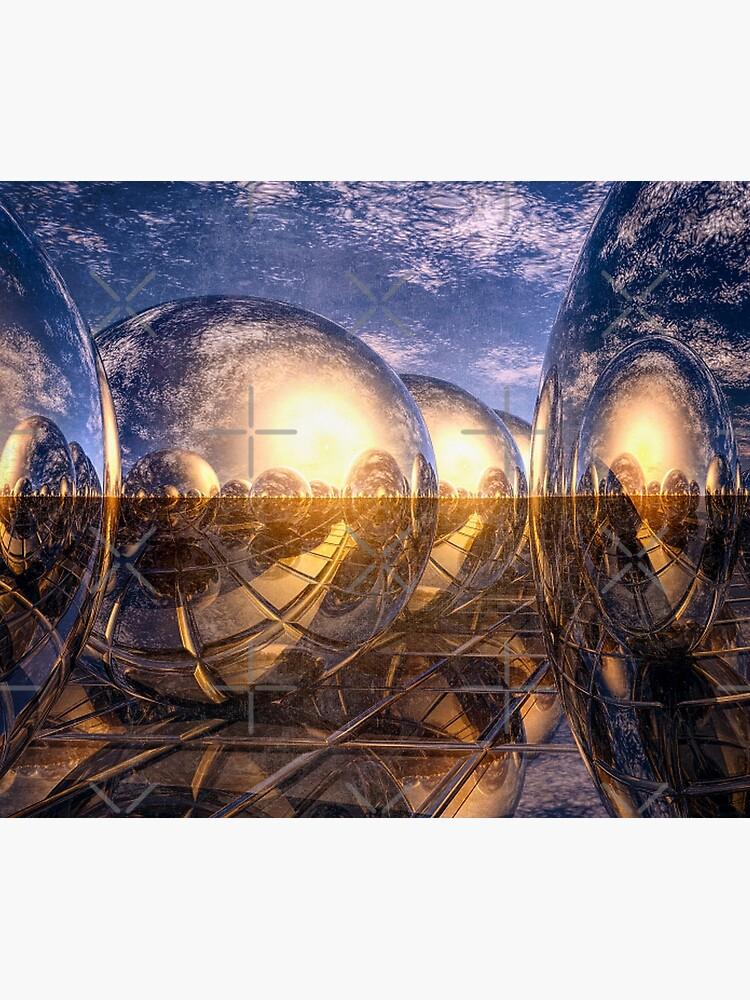 Metallic Reflections of 3D by perkinsdesigns