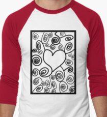Abstract love art Men's Baseball ¾ T-Shirt
