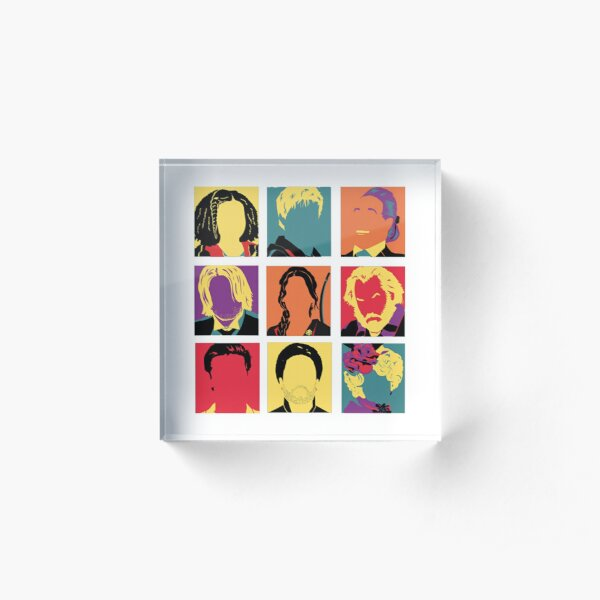 Hunger Games characters Acrylic Block