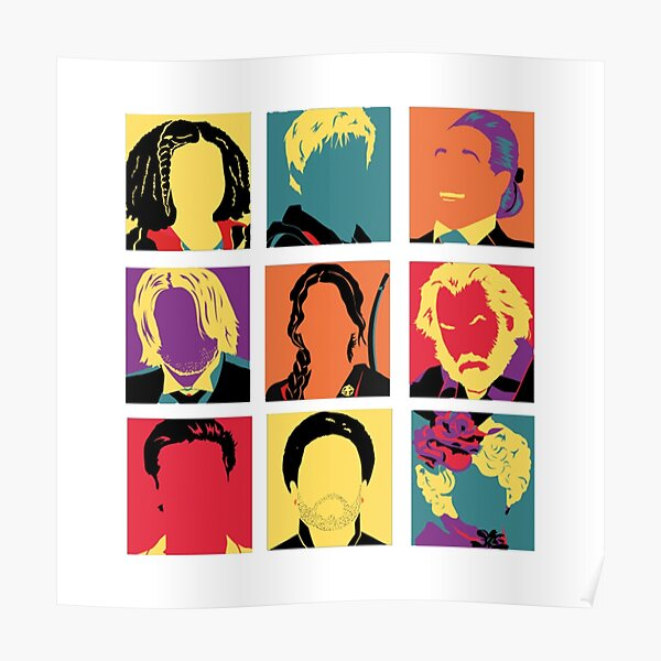 Hunger Games characters Poster