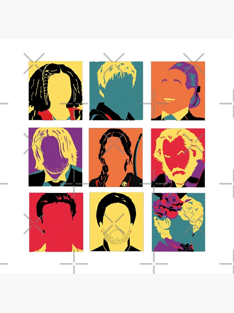 Hunger Games Characters Art Board Print By Hilaarya Redbubble