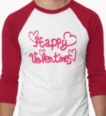 Happy Valentines Men's Baseball ¾ T-Shirt