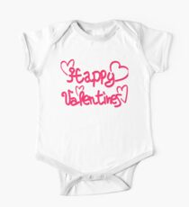 Happy Valentines One Piece - Short Sleeve