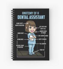 Cuaderno de espiral Anatomía de un asistente dental - dentista Tooth Mouth