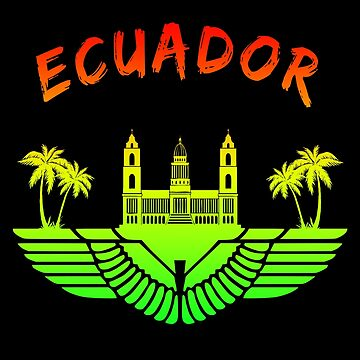 Ecuador Palace with palm trees / gift by Rocky2018