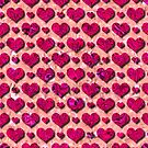 Pink Valentines Hearts Abstract Polka Dot Pattern by MarkUK97