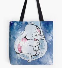 Dumbo and his mother, Mother and baby elephant Tote Bag