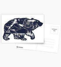 Bear double exposure Postcards
