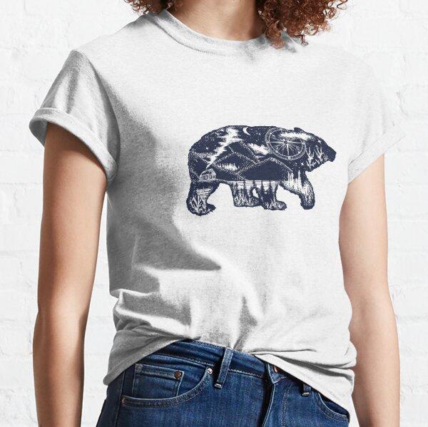 Bear double exposure Classic T-Shirt