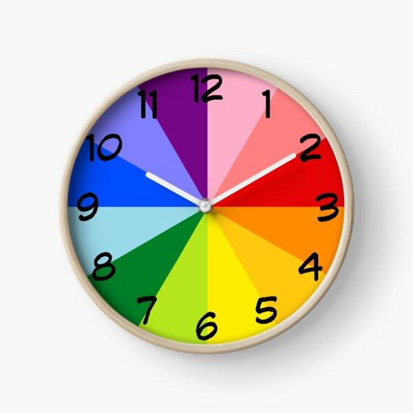 Rainbow Clock Clock