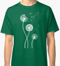 Dandelion Seeds Blowing In The Wind T Shirt Classic T-Shirt