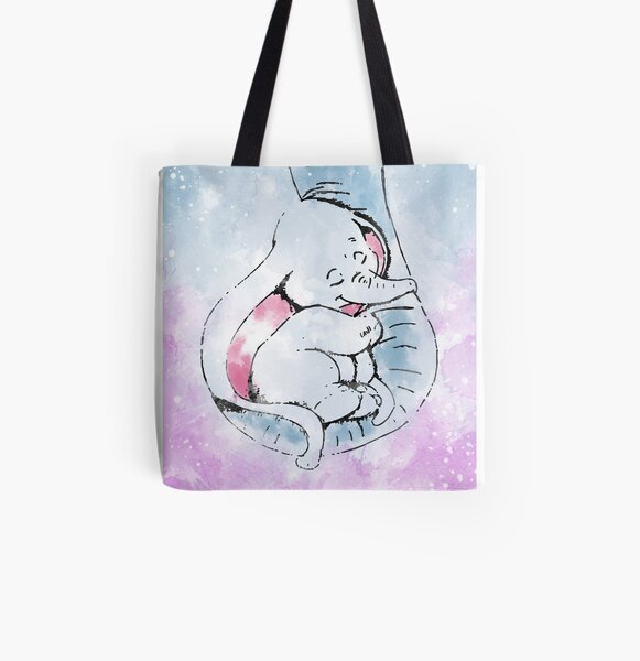 Dumbo and his mother All Over Print Tote Bag