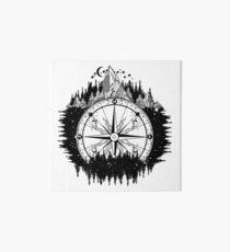 Berg und Kompass Galeriedruck