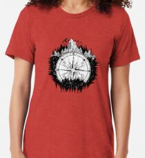 Mountain and compass Tri-blend T-Shirt