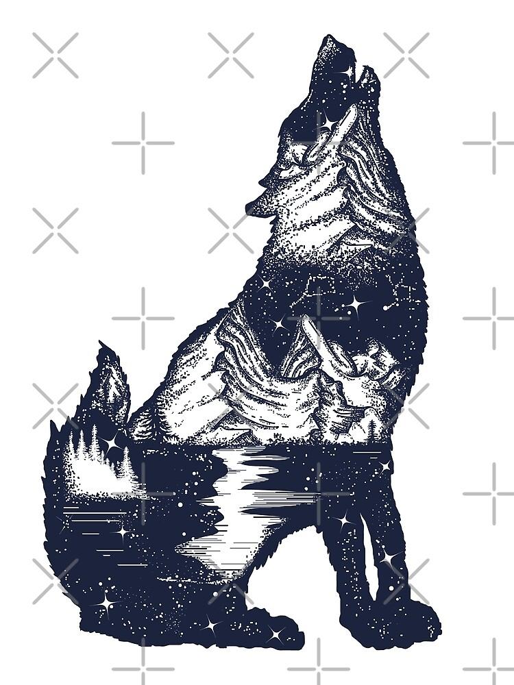 Doble exposición al lobo de intueri