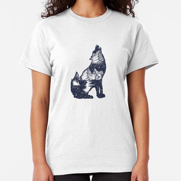 Wolf Doppelbelichtung Classic T-Shirt