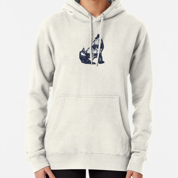 Wolf double exposure Pullover Hoodie
