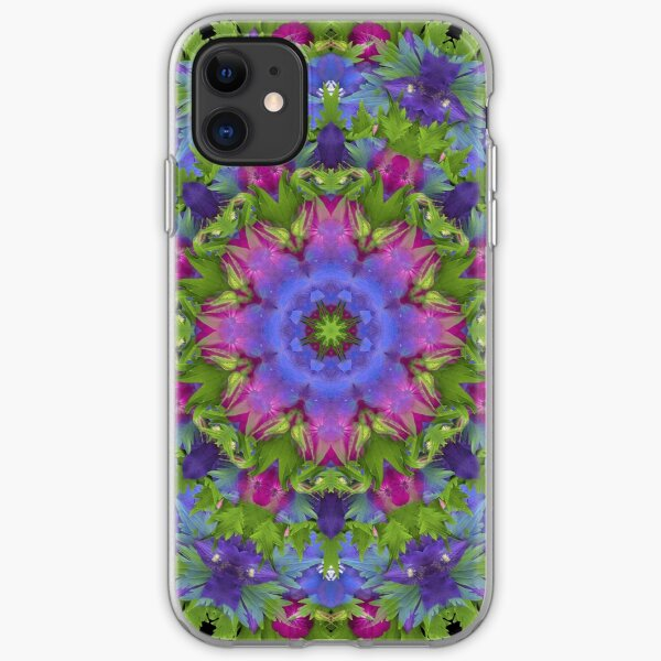 Jewel Toned Floral Explosion iPhone Soft Case