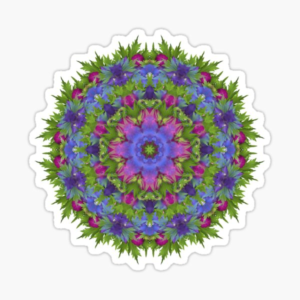 Jewel Toned Floral Explosion Sticker