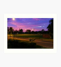 Pinky Purpley Sunrise Art Print