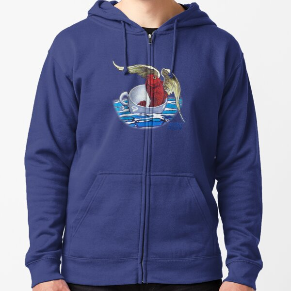 The Ascent (fish detail) Zipped Hoodie