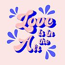 Love in blue and pink -  caligraphy by ShowMeMars