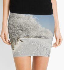 Snow on the river bank Mini Skirt