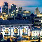 Kansas City Skyline over Union Station by Gregory Ballos