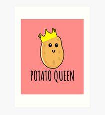 Potato Queen - Funny Potato gift Art Print