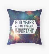 900 Years of Time and Space Throw Pillow