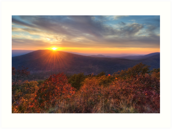 Oklahoma Mountain Sunset - Talimena Scenic Byway by Gregory Ballos