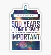 900 Years of Time and Space Sticker