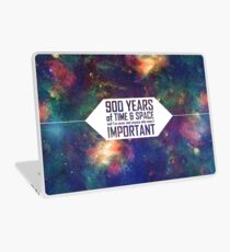 900 Years of Time and Space Laptop Skin