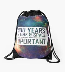 900 Years of Time and Space Drawstring Bag