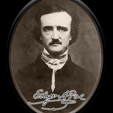 Edgar Allan Poe, Portrait and signature. by TOMSREDBUBBLE