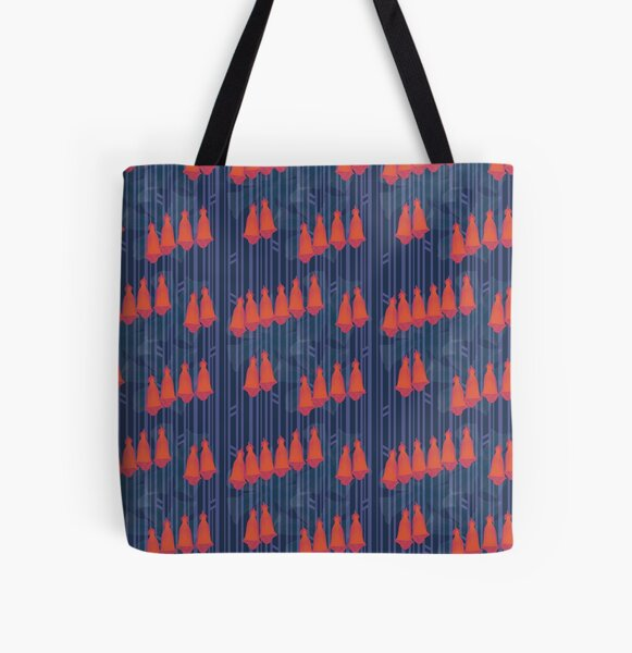 Floral Clash - Foxgloves All Over Print Tote Bag