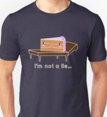 The cake is not a lie. Slim Fit T-Shirt