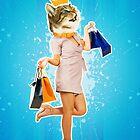 kitten contemporary art  by 1STunningART