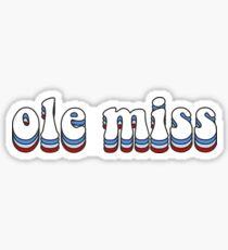 Groovy Ole Miss Sticker