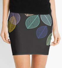 More Colorful Leaves Mini Skirt