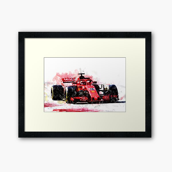 Charles Leclerc Ferrari Framed Art Print
