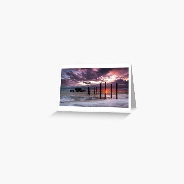 Brighton West Pier Greeting Card