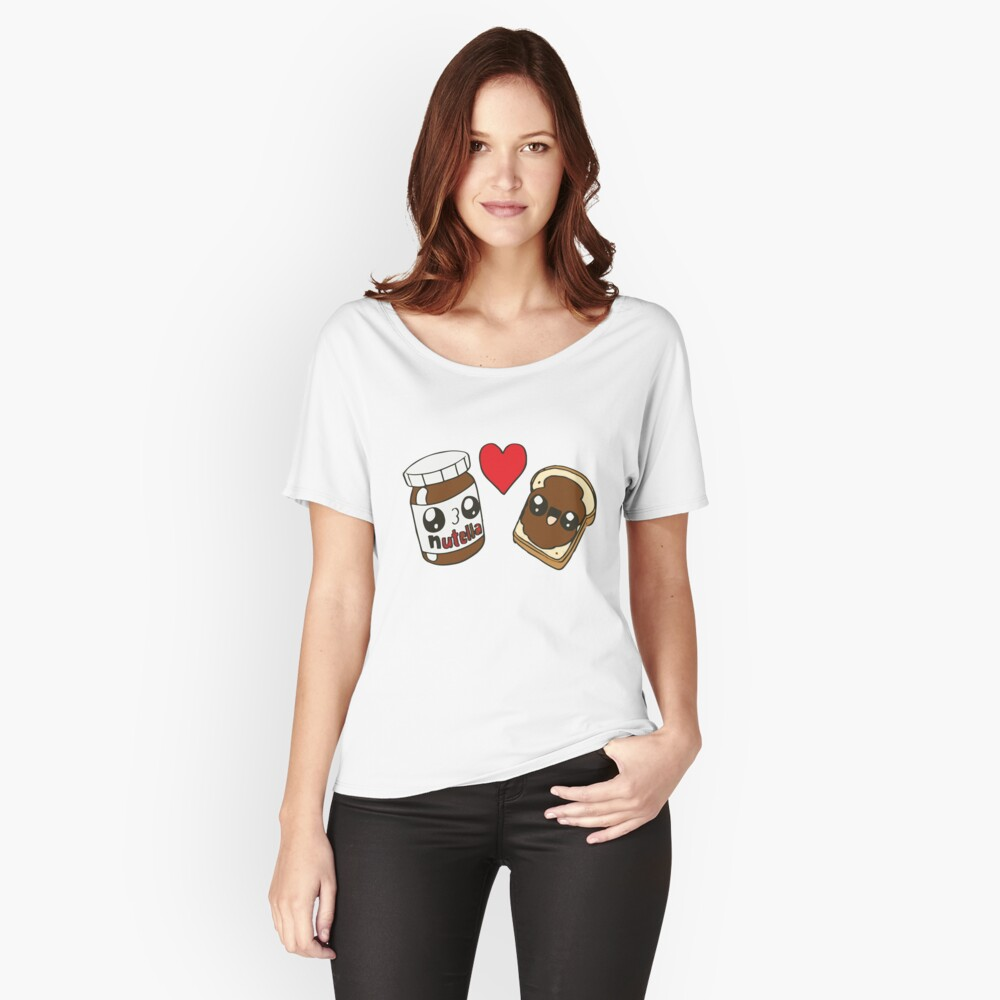 ★ Kawaii Nutella Women's Relaxed Fit T-Shirt Front