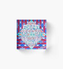 mandala lion ecopop Acrylic Block